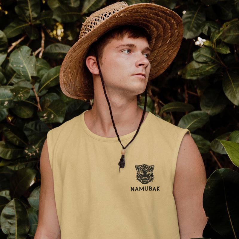 Camiseta de bambú con camiseta sin mangas Camisa ecológica